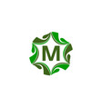 green project solution center initial m vector image vector image