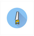 handsaw icon on white background vector image vector image