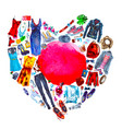 heart of the things painted in watercolor vector image vector image