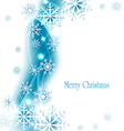 holiday christmas background with snowflakes vector image vector image