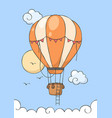 hot air balloon fly on blue sky vector image