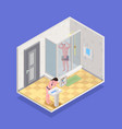 hygiene isometric concept vector image vector image