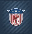 independence day sale sign on blue background vector image vector image