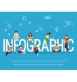 Infographic concept of young people vector image