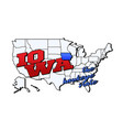 iowa state with us state on american vector image vector image