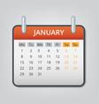 january 2018 calendar concept background cartoon vector image