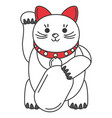 japanese cat luck icon vector image vector image