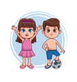 kids at summer with swim suit vector image vector image