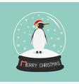 King Penguin Emperor in red santa hat Cute cartoon vector image vector image