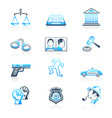 law and order icons | marine series vector image vector image