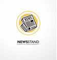 logo design idea for newsstand business vector image