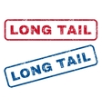 Long Tail Rubber Stamps vector image vector image