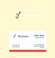 love guitar logo design with business card vector image vector image
