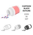 medicines icon cartoon single medicine icon from vector image vector image