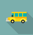 mini kid school bus icon flat style vector image