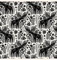 moose seamless pattern scandinavian animals vector image