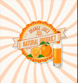 orange juice retro vintage background vector image vector image