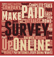 Paid Online Surveys An Easy Way To Make Money At vector image vector image