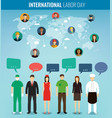 people of different occupations with infographics vector image