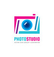 photo studio - logo template concept vector image