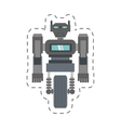 robot machine science technology cutting line vector image vector image