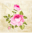 rose flowers garland vector image vector image