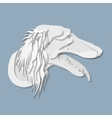 Side portrait of Saluki dog in paper cut style vector image vector image