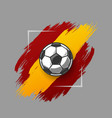 soccer ball on grunge vector image