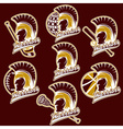 spartan warrior as emblem sports teams vector image