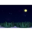 Starry Sky At Night vector image vector image