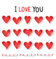 sweetheart i love you valentine heart vector image vector image