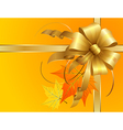 Thanksgiving Bow vector image vector image