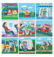 travelling people traveler or tourist vector image