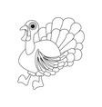 turkey thanksgiving day coloring page vector image vector image