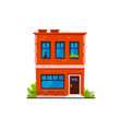 typical brick town house vector image vector image