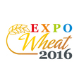 wheat logo abstract market plant product design vector image