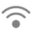 wi-fi halftone icon vector image vector image