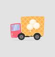 cartoon delivery ice cream truck vector image