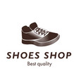 sport shoes shop best quality sneakers logo design vector image