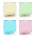 Paper note isolated set vector image