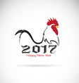 2017 new year card year rooster vector image