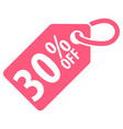 30 percent off tag vector image