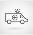ambulance line icon on white background vector image vector image
