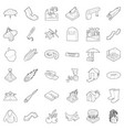 atmospheric icons set outline style vector image vector image