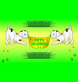 banner pets allowed vector image vector image