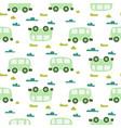 car cute baby green scandinavian seamless vector image vector image