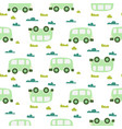 car cute bagreen scandinavian seamless vector image vector image