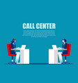 cartoon characters for call center concept vector image