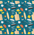 cartoon cookware background pattern vector image vector image