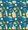 cartoon cookware background pattern vector image